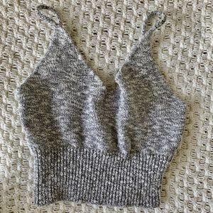 Tops - Grey Sweater Crop